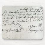 Letter written by Handel, June 1716 Mouse Pad