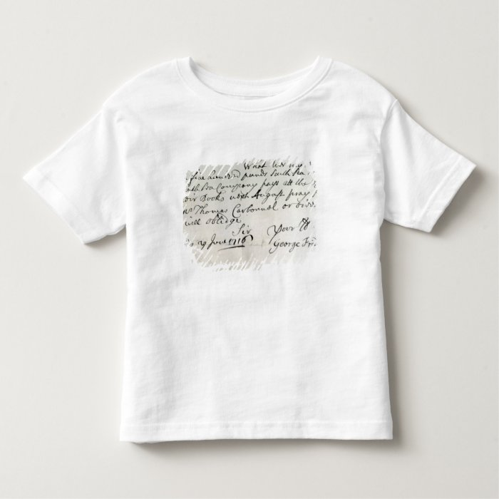 Letter written by Handel, June 1716 Toddler T-shirt