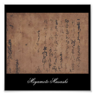 Letter written by Miyamoto Musashi, c. 1600's Posters