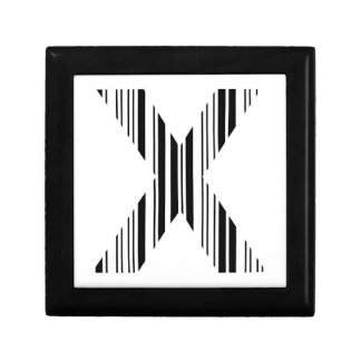 LETTER X BAR CODE First Initial Barcode Pattern Keepsake Boxes