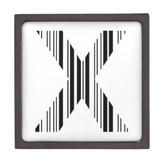 LETTER X BAR CODE First Initial Barcode Pattern Premium Gift Boxes