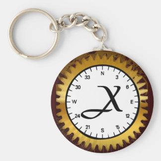 Letter X Clockwork Keychain