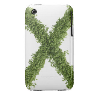 Letter 'X' in cress on white background, Case-Mate iPhone 3 Case