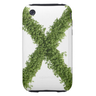 Letter 'X' in cress on white background, Tough iPhone 3 Covers