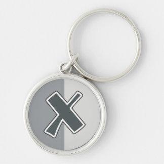 Letter X Keychain