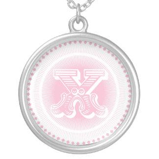 Letter X monogram necklace