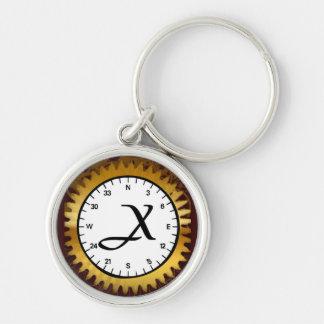 Letter X Premium Clockwork Keychain