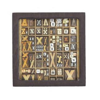 Letter X Premium Keepsake Boxes