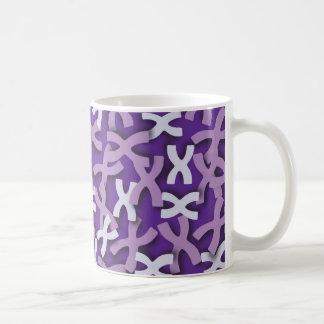 Letter X Purple Coffee Mug
