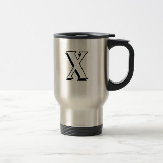 """Letter X""  ""Sprocket Deluxe"" Travel Mug"
