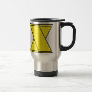 letter x travel mug