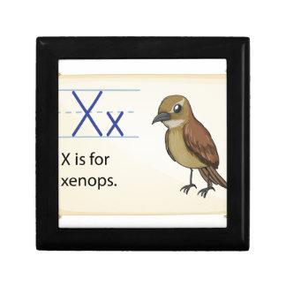Letter X Trinket Box
