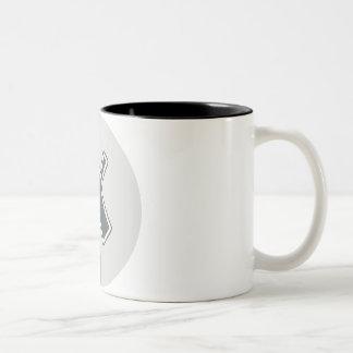 Letter X Two-Tone Coffee Mug