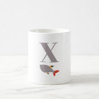 Letter X & X-Ray Fish Mug