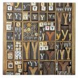 Letter Y Ceramic Tile