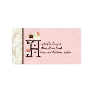 Letter Y  Cupcake Business Address Mailing Labels