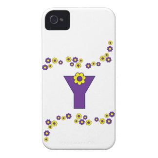 Letter Y in Flores Purple Monogram Case-Mate iPhone 4 Case