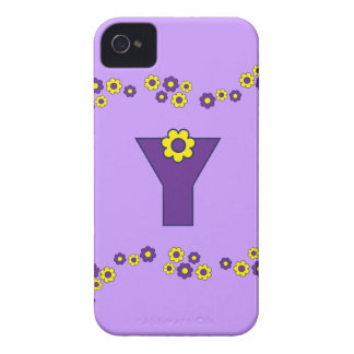 Letter Y in Flores Purple Monogram iPhone 4 Cover