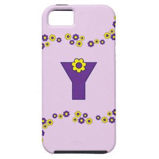 Letter Y in Flores Purple Monogram iPhone SE/5/5s Case