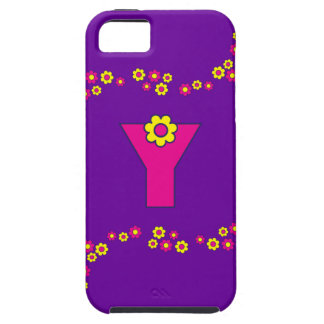 Letter Y Monogram in Flores Pink iPhone SE/5/5s Case