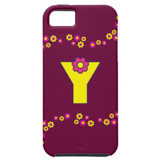 Letter Y Monogram in Flores Yellow iPhone SE/5/5s Case