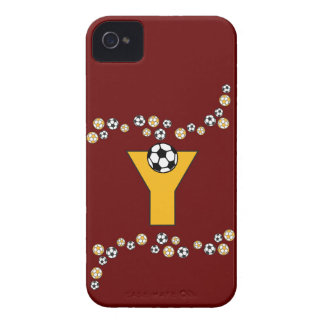 Letter Y Monogram in Soccer Gold Case-Mate iPhone 4 Case