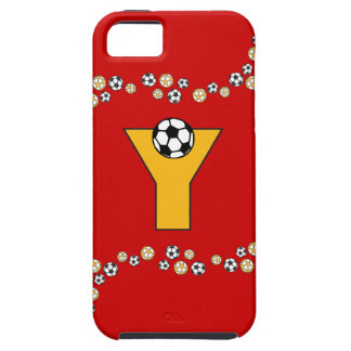 Letter Y Monogram in Soccer Gold iPhone SE/5/5s Case