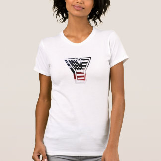 Letter Y Monogram Initial Patriotic USA Flag T-Shirt