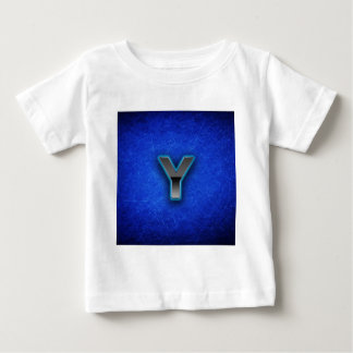 Letter Y - neon blue edition Baby T-Shirt