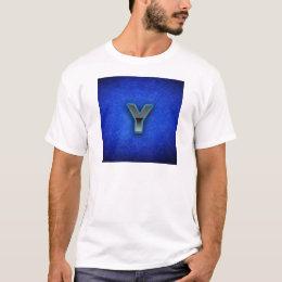 Letter Y - neon blue edition T-Shirt