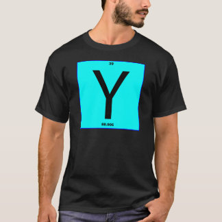 Letter Y periodic table T-Shirt