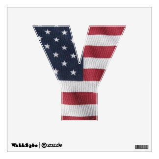 Letter Y window decal
