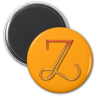 LETTER Z 2 INCH ROUND MAGNET