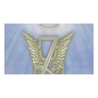 Letter Z Angel Monogram Business Card