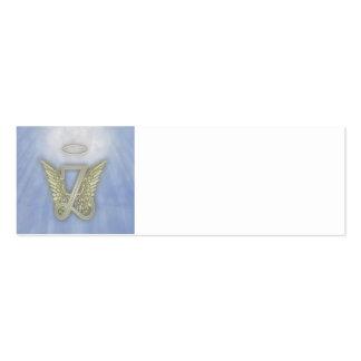 Letter Z Angel Monogram Mini Business Card