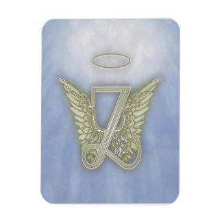 Letter Z Angel Monogram Rectangular Photo Magnet