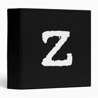 Letter Z 3 Ring Binder