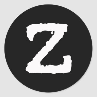 Letter Z Classic Round Sticker