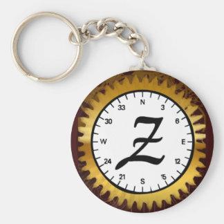 Letter Z Clockwork Keychain