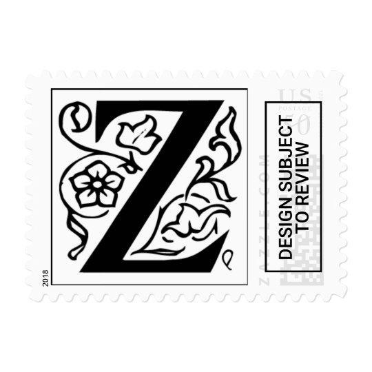 Letter Z Fancy Initial Postage Stamps | Zazzle.com