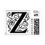 Letter Z Fancy Initial Postage Stamps