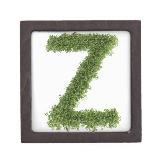 Letter 'Z' in cress on white background, 2 Gift Box