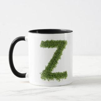Letter 'Z' in cress on white background, 2 Mug