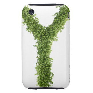 Letter 'Z' in cress on white background, Tough iPhone 3 Cases