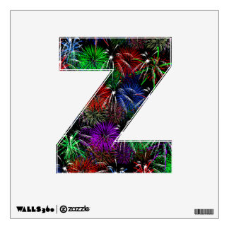 Letter Z Initial - Fireworks Display Wall Decal