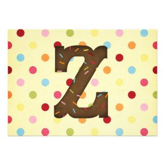 Letter Z Invitations