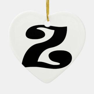 Letter Z_large Ceramic Ornament