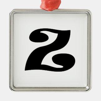 Letter Z_large Metal Ornament