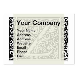 Letter Z Medieval Monogram Vintage Initial Large Business Card