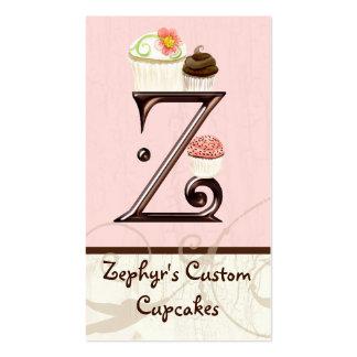 Letter Z Monogram Dessert Bakery Business Cards